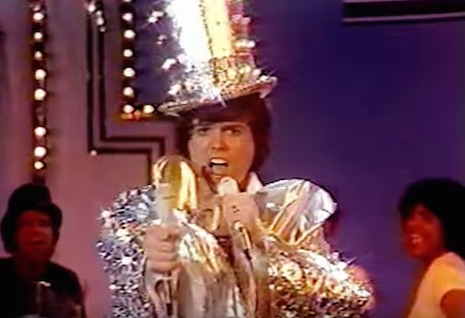 Donny Osmond dressed as