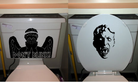 Doctor Who 'Weeping Angel' toilet decal