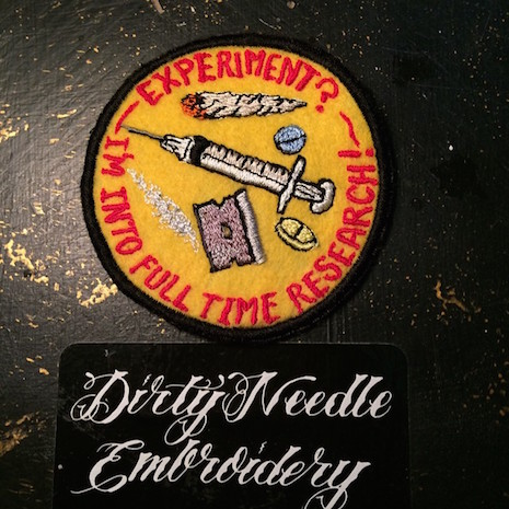 Drug researcher hand made patch