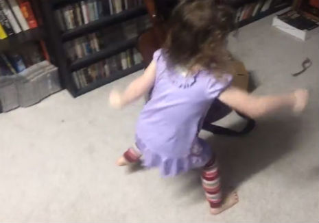 3-year-old little girl hears Bad Brains for the first time: 'Turn it up!'
