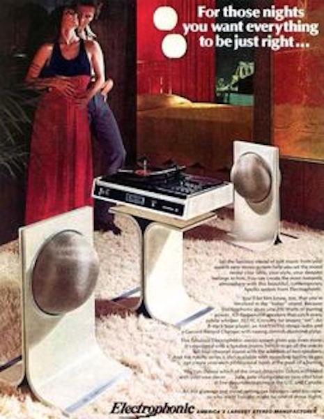 Electrophonic stereo ad, 1970s