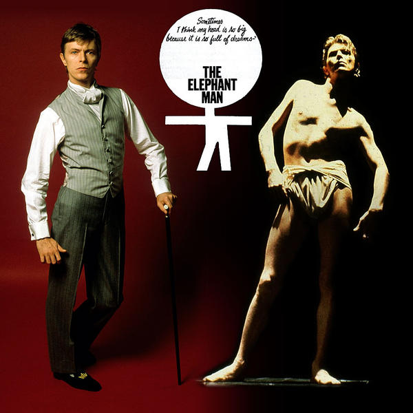 Extended footage of David Bowie as The Elephant Man @Dangerous Minds Artes & contextos elephant 465 982371