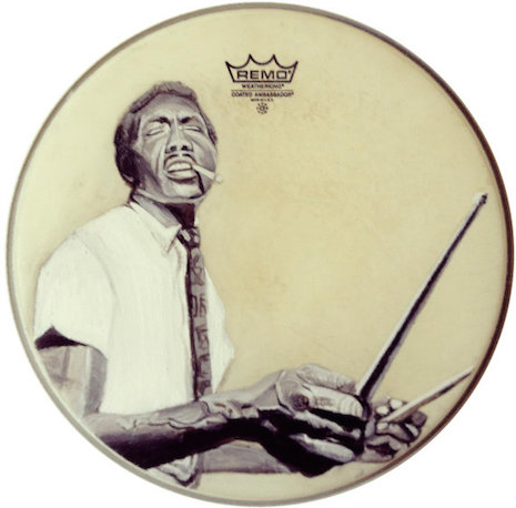 Elvin Jones drum art by Nicole Di Nardo