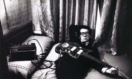 Elvis Costello in Amsterdam, 1977. Photo by Anton Corbijn