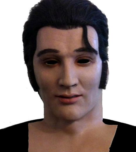 The Rocking Dead: Spooky as hell Elvis Presley mask