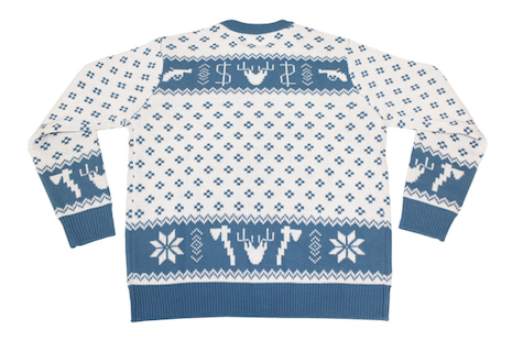 Fargo Christmas sweater (back view) by Mondo