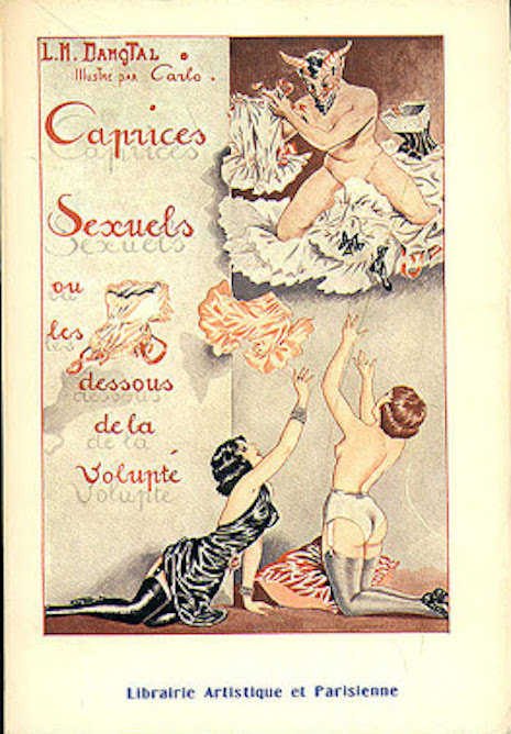 A fetish book cover illustrated by Carlo