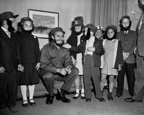Castro with kids
