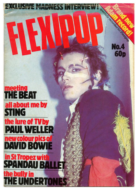 Adam Ant on the cover of Flexipop! #4