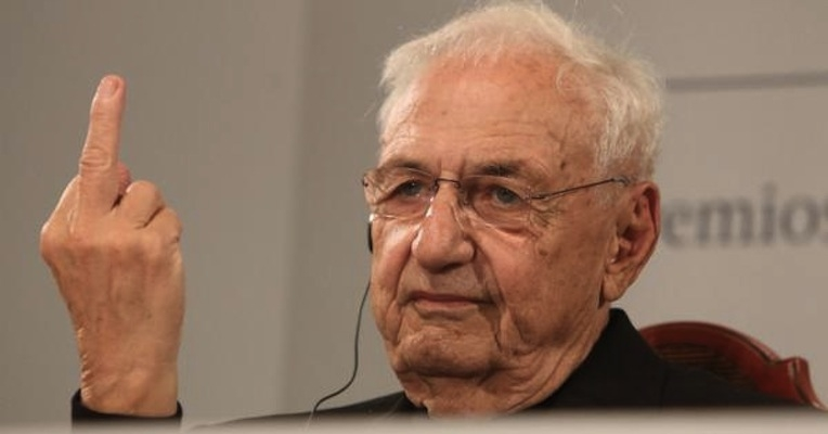 Frank Gehry gives 98% of architecture the finger