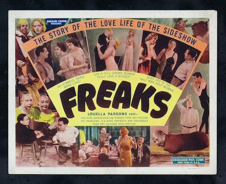 Freaks vintage lobby card, 1932