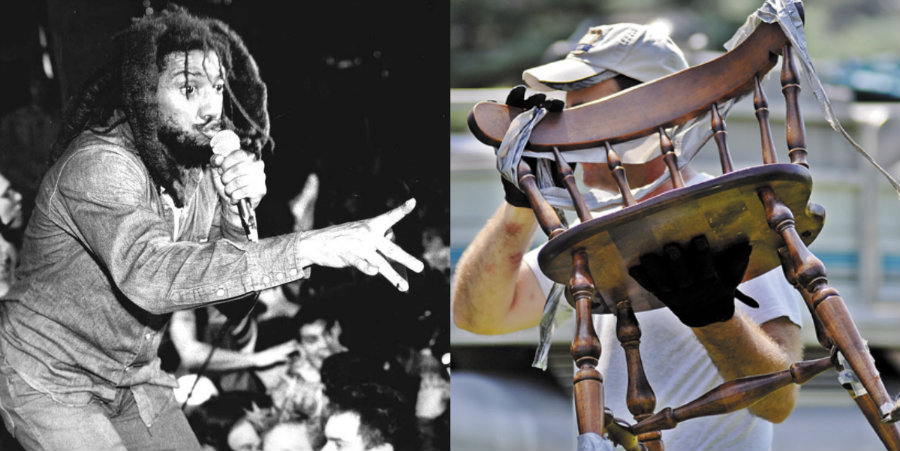 Why DID Bad Brains frontman H.R. duct-tape himself to a chair?