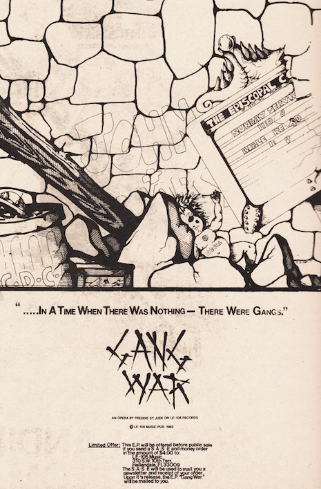 Gang War ad, 1982