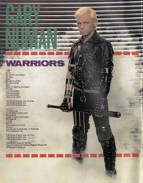 Gary Numan Smash Hits September 1983