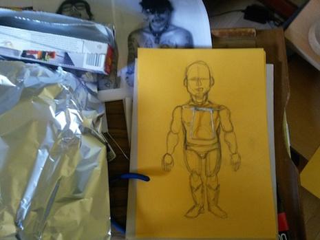 The making of the GG Allin marionette in progress