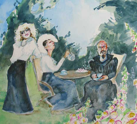 GG Allin, Wendy O. Williams, Nancy Spungen pastoral watercolor