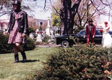 GG Allin in a dress for his brother Merle's wedding in May of 1989