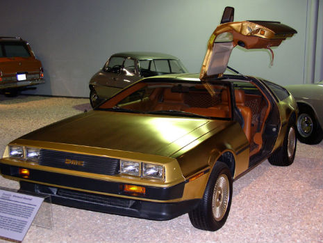 The 24-karat gold-plated DeLorean, 1980
