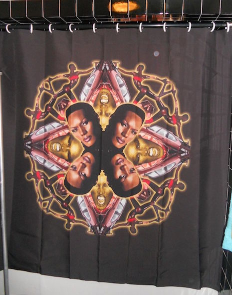 Grace Jones collage shower curtain (officially licenced)