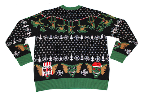 Gremlins Christmas sweater (back view) by Mondo