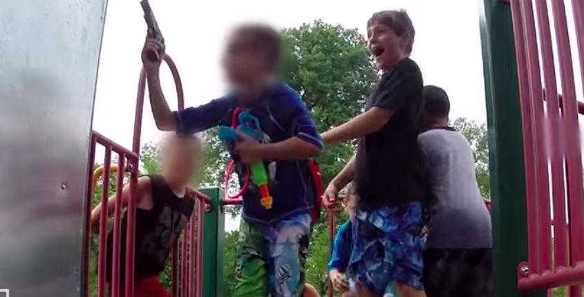 Hidden camera: Watch what children do when they find a 'gun' at the playground