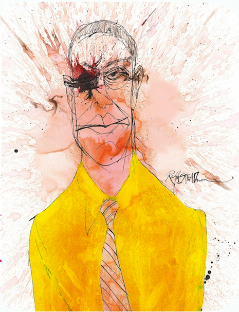 Gus Fring by Ralph Steadman