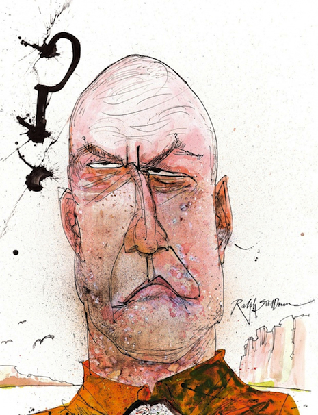 Hank Scrader by Ralph Steadman