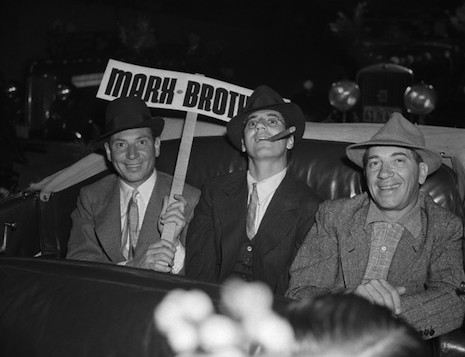The Marx Brothers in the Santa Claus Lane Parade, 1938