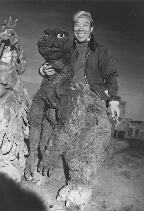 Harou Nakajima taking a break from being Godzilla