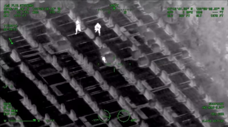 You can run, but you can't hide: Watch this wild heat-vision police pursuit helicopter footage