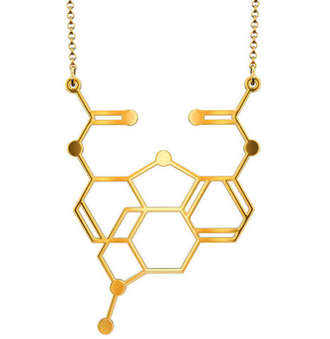Heroin molecular necklace