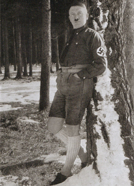 Hitler wearing shorts!