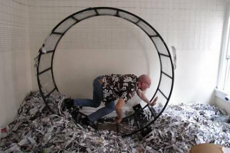 Free human-sized hamster wheel on Craigslist!