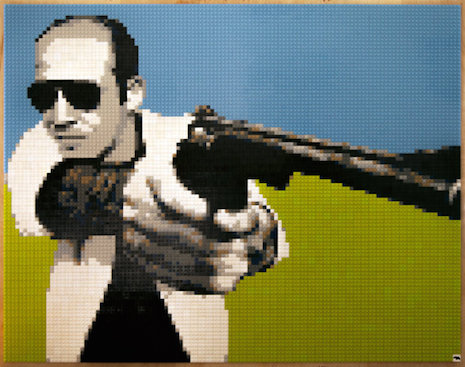 Hunter S. Thompson LEGO mosaic