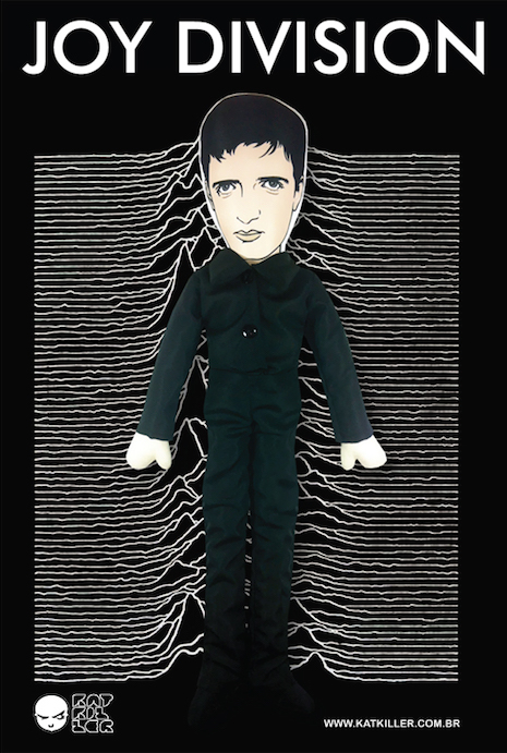 Ian Curtis of Joy Division plush toy