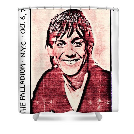 Iggy Pop shower curtain