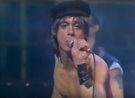 Iggy Pop performing on the UK TV music show, The Tube in 1983
