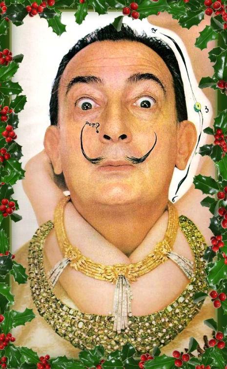 Salvador Dali's Christmas cards