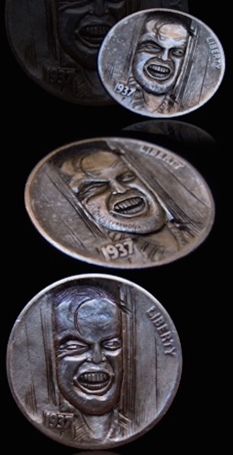Jack Torrance hobo nickel by Mr. The
