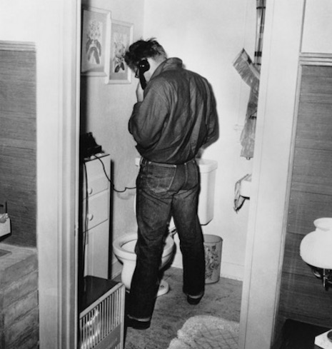 James Dean in the bathroom
