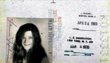 Passport photos of famous faces