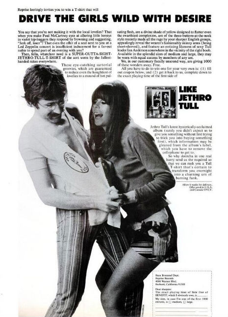 'Drive The Girls Wild With Desire' with THIS Jethro Tull tee-shirt!