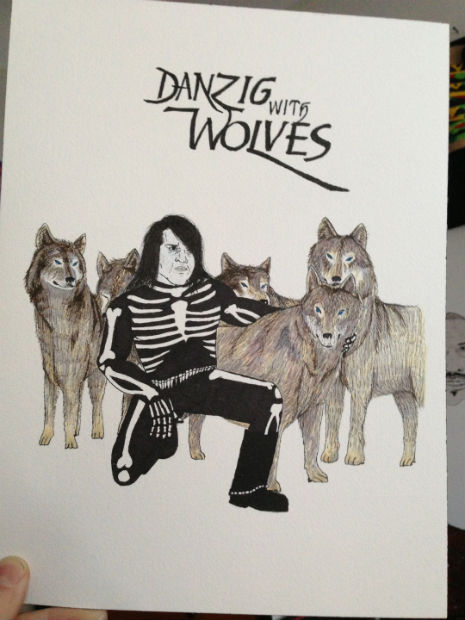 Danzig with Wolves: Illustrated funnies with famous bands and musicians