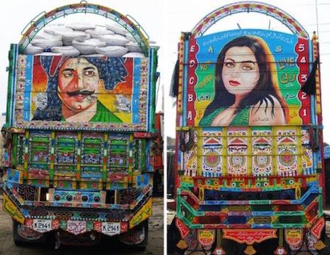 Jingle Truck back panel portraits