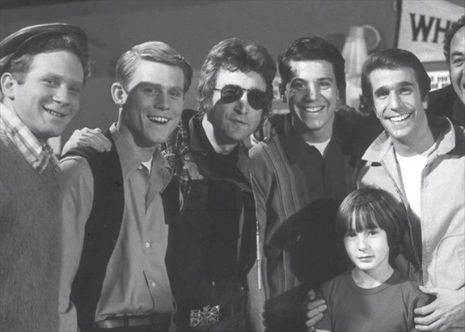 When John Lennon visited the set of 'Happy Days,' 1974