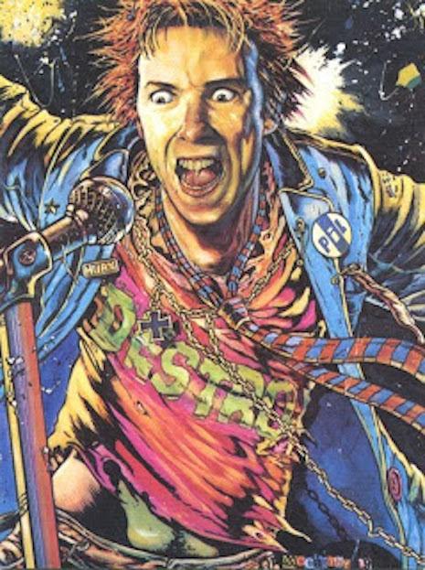 John Lydon by Brendan McCarthy