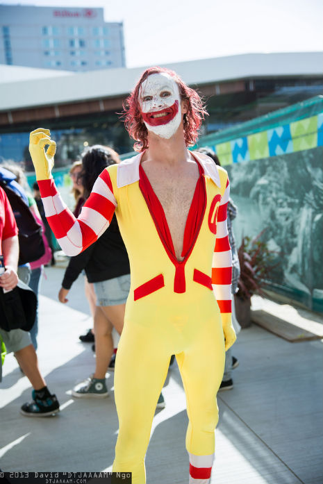 Truly demented cosplay: The Joker meets Ronald McDonald