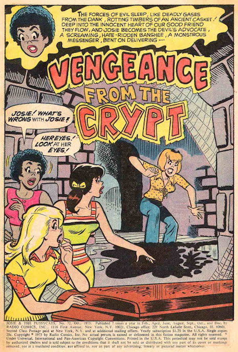 Josie and the Pussycats, Vengeance From The Crypt, October 1973