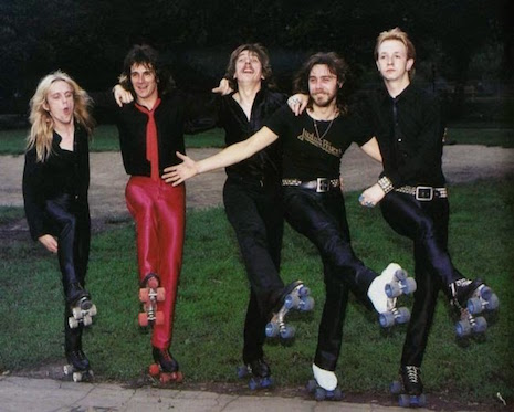 Judas Priest roller skating in 1981
