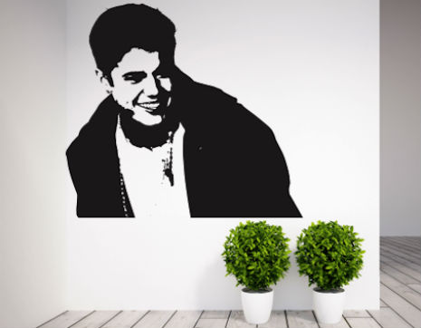 Justin Bieber wall art